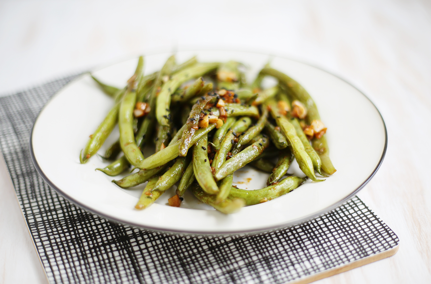 Garlic and Miso Green Beans (click through for recipe)