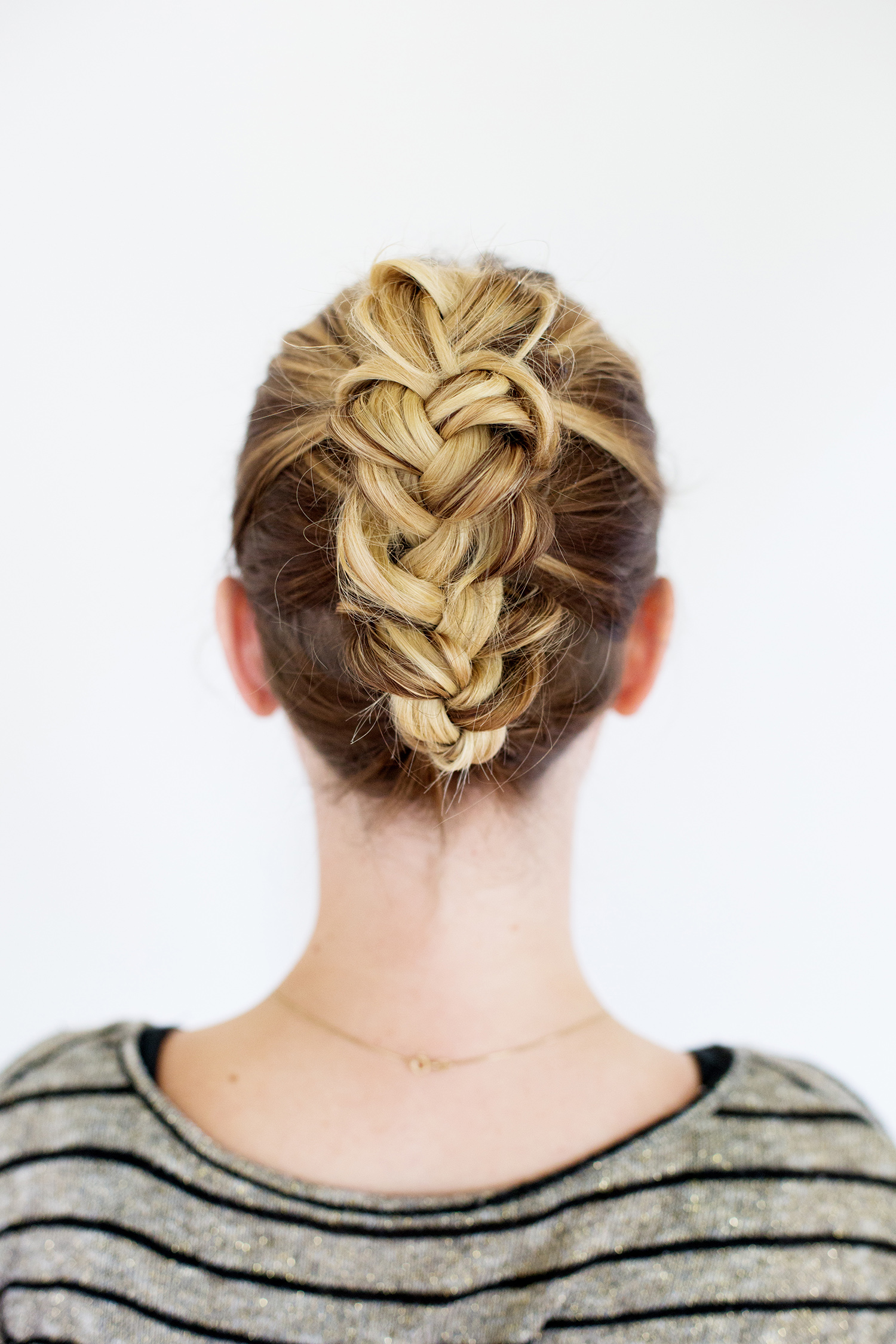 Tucked Braid Updo (click through for full tutorial)