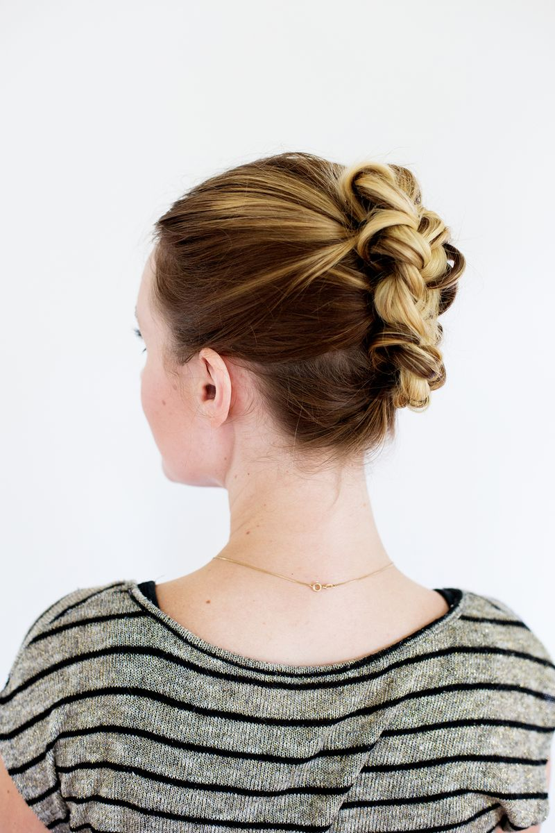 Lovely Tucked Braid Updo