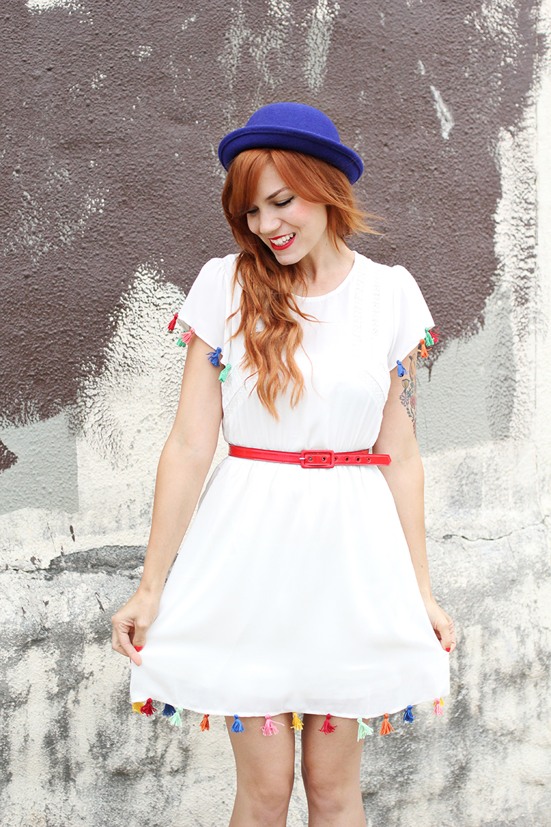 DIY tassell dress
