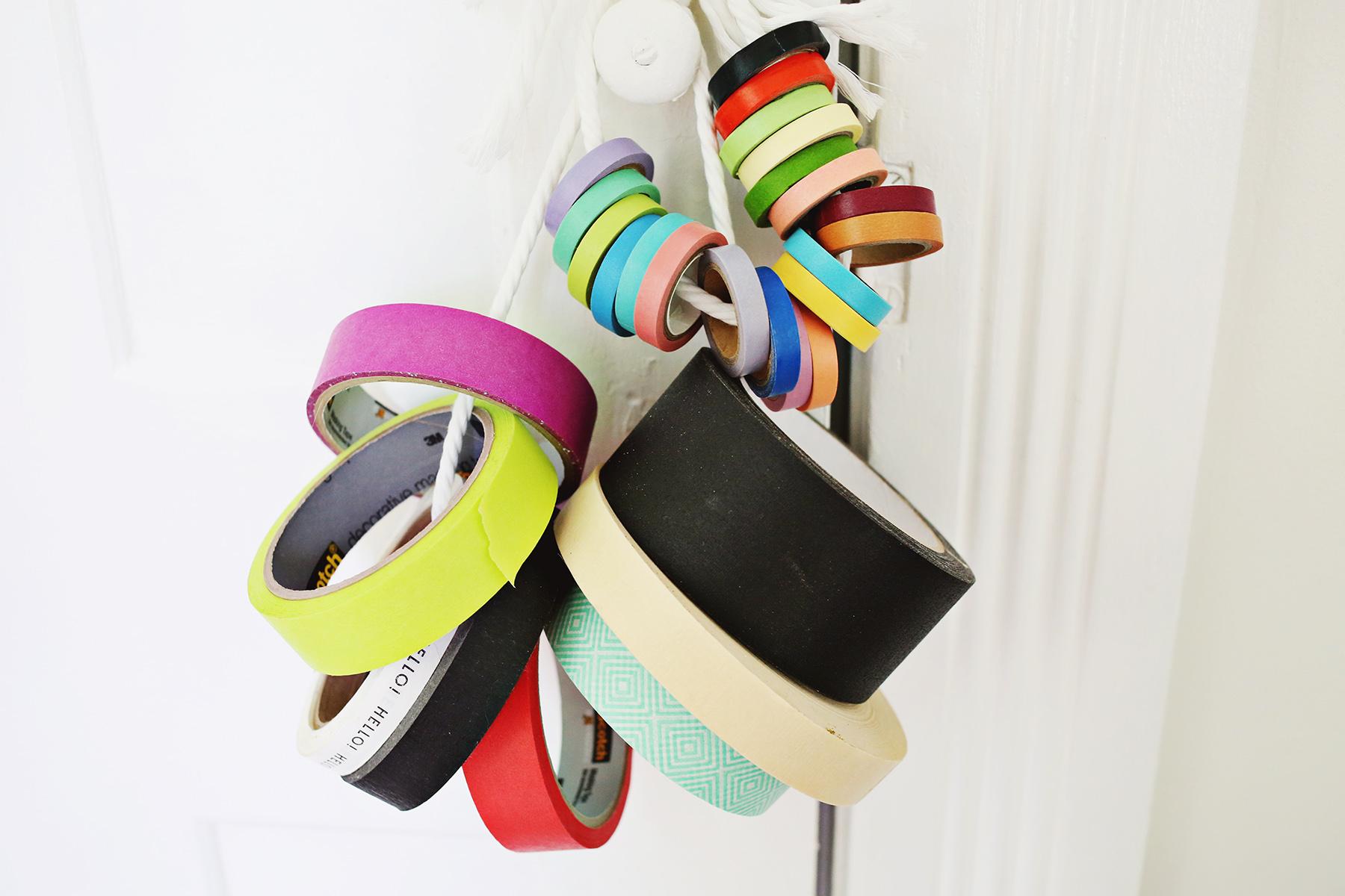 Washi tape + rope