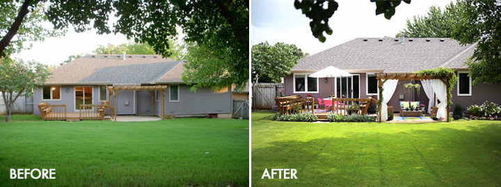 Bright Fun Outdoor Summer Space Before After