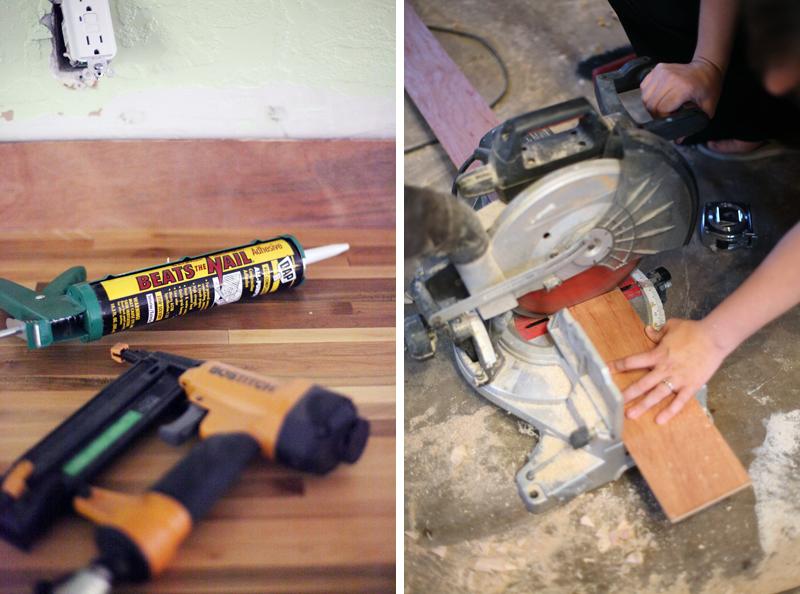 How to Make an Inexpensive Plank Backsplash