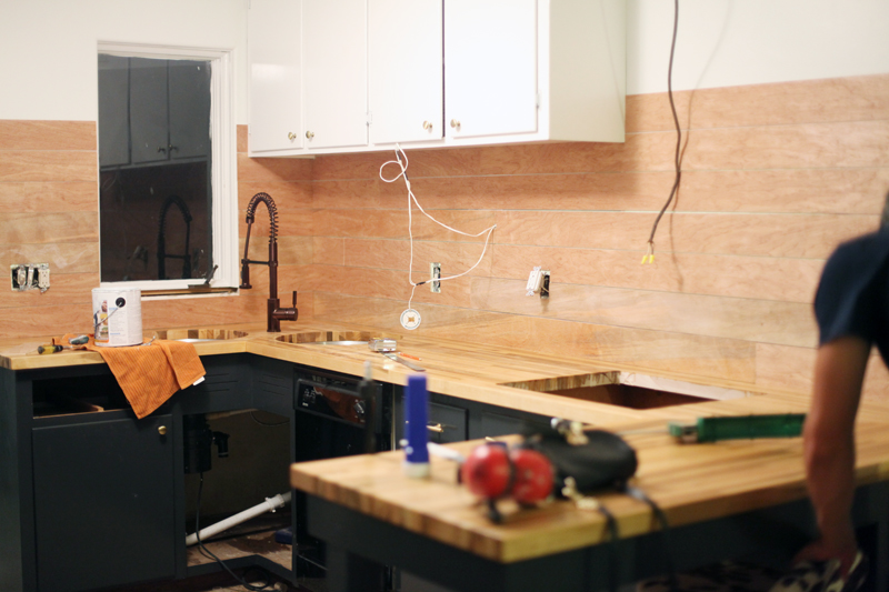 How to Make an Inexpensive Plank Backsplash - A Beautiful Mess