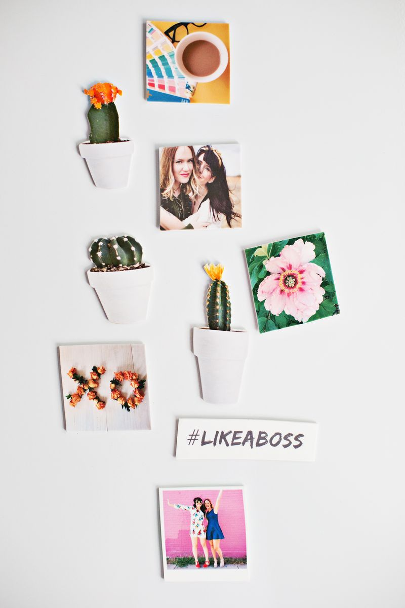 3-Step Personalized Mini Photo Magnets (click through for tutorial)