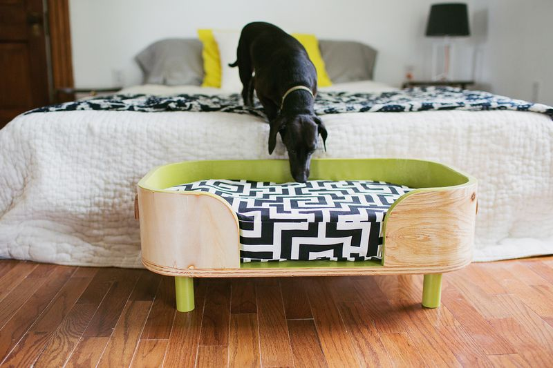 The Sadie bed - sadie inspected (how to make a modern pet bed. click for more)