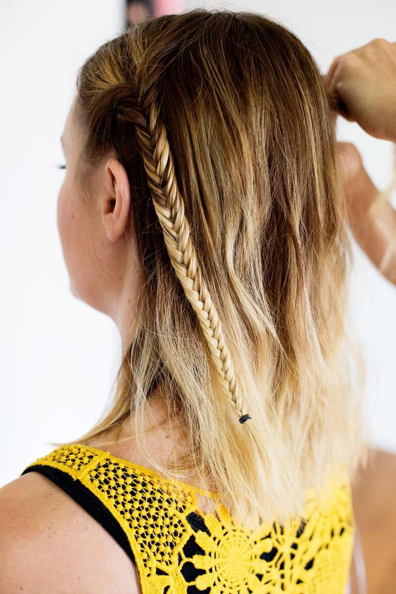 Repeat the fishtail on the other side