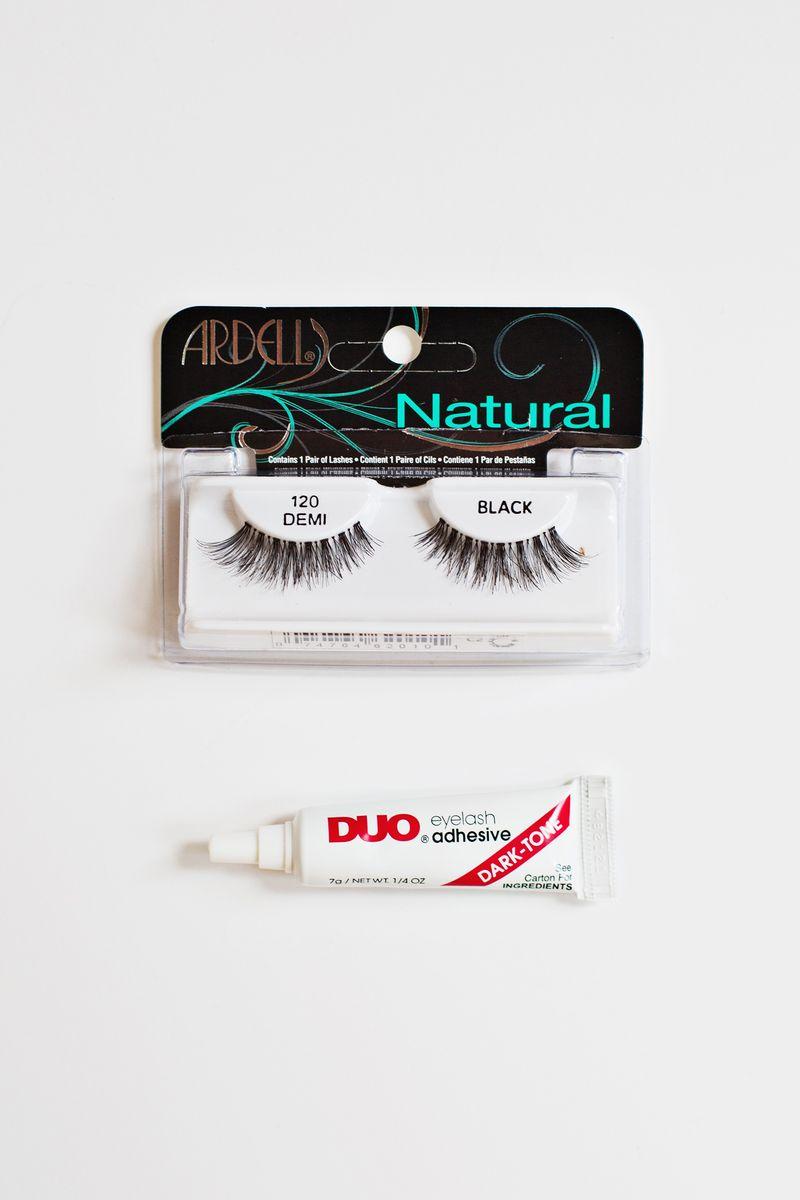 Our go-to false lashes and glue