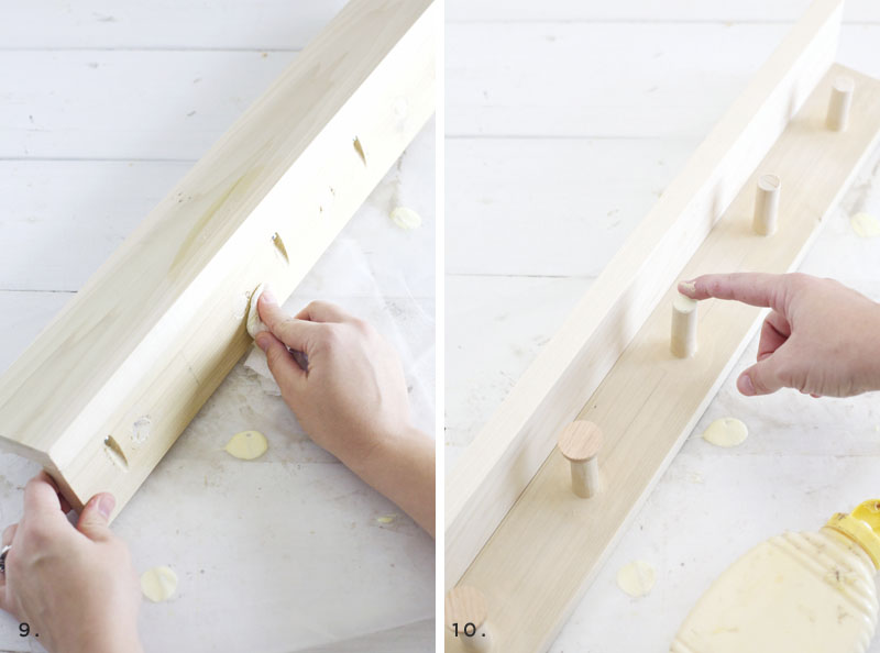 Make your own peg rail- perfect for accessorizing in the kitchen!