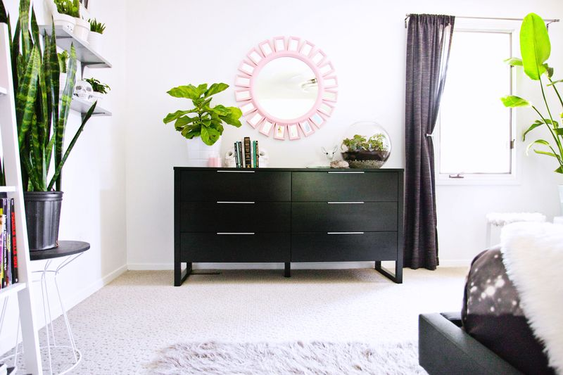 Bright and airy bedroom (before + after)