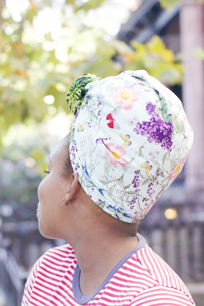 DIY double-sided head wrap (so cute and easy!)