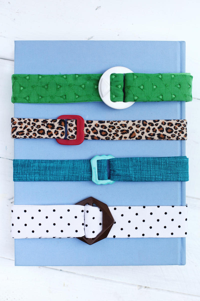 Make your own fabric belts