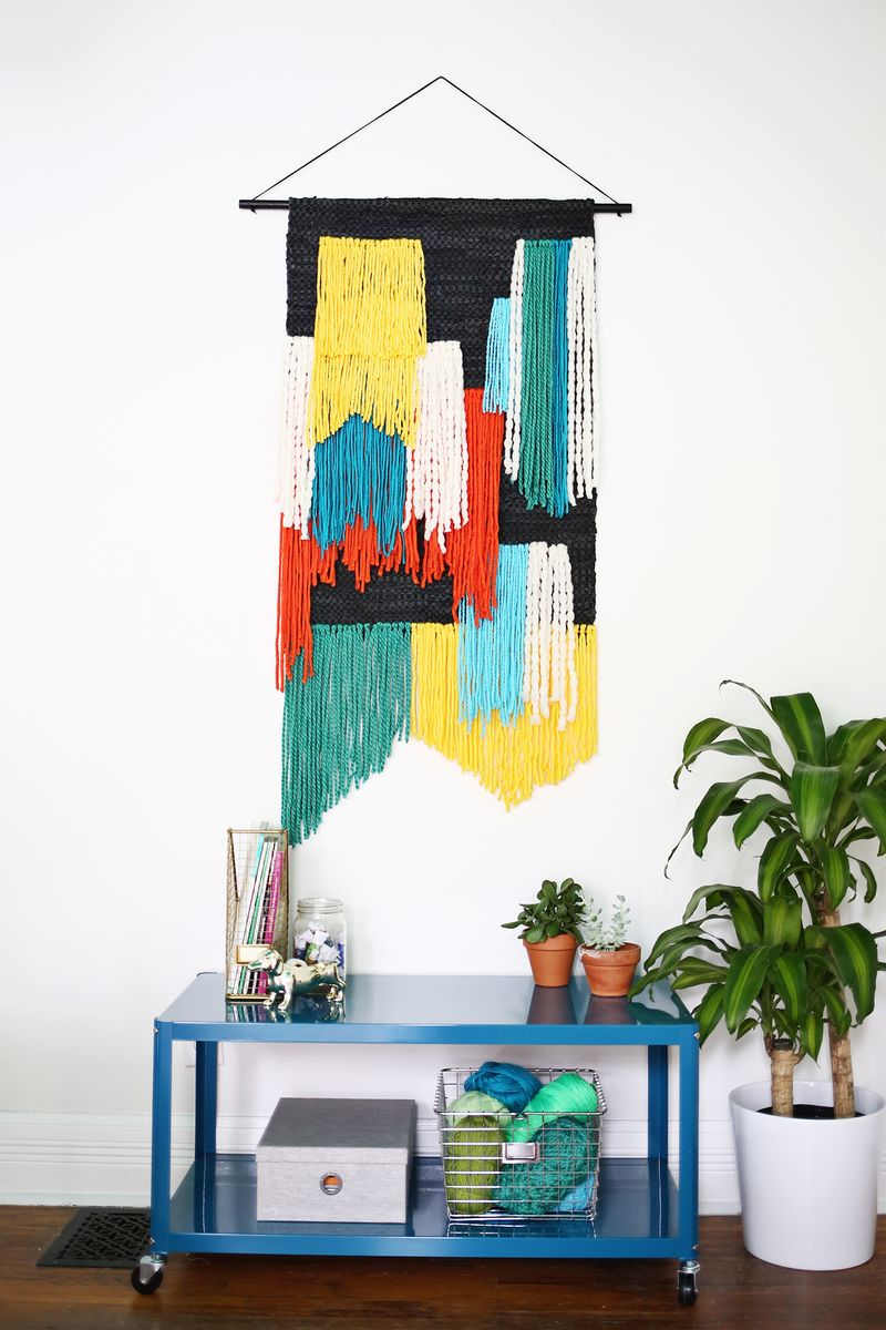 Fast and easy large tapestry wall hanging