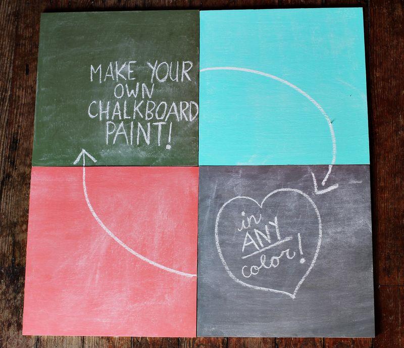Chalkboard paint DIY