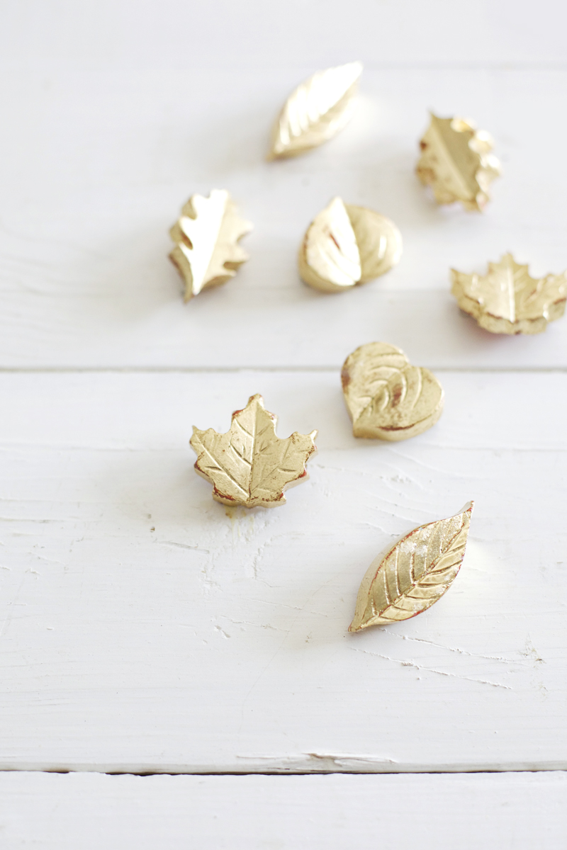 DIY Gold Leaf Brooches