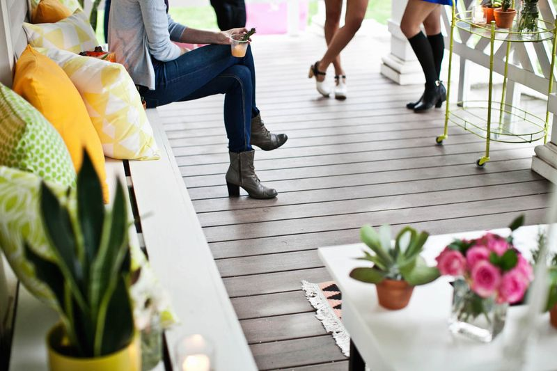 A Beautiful Mess front porch party