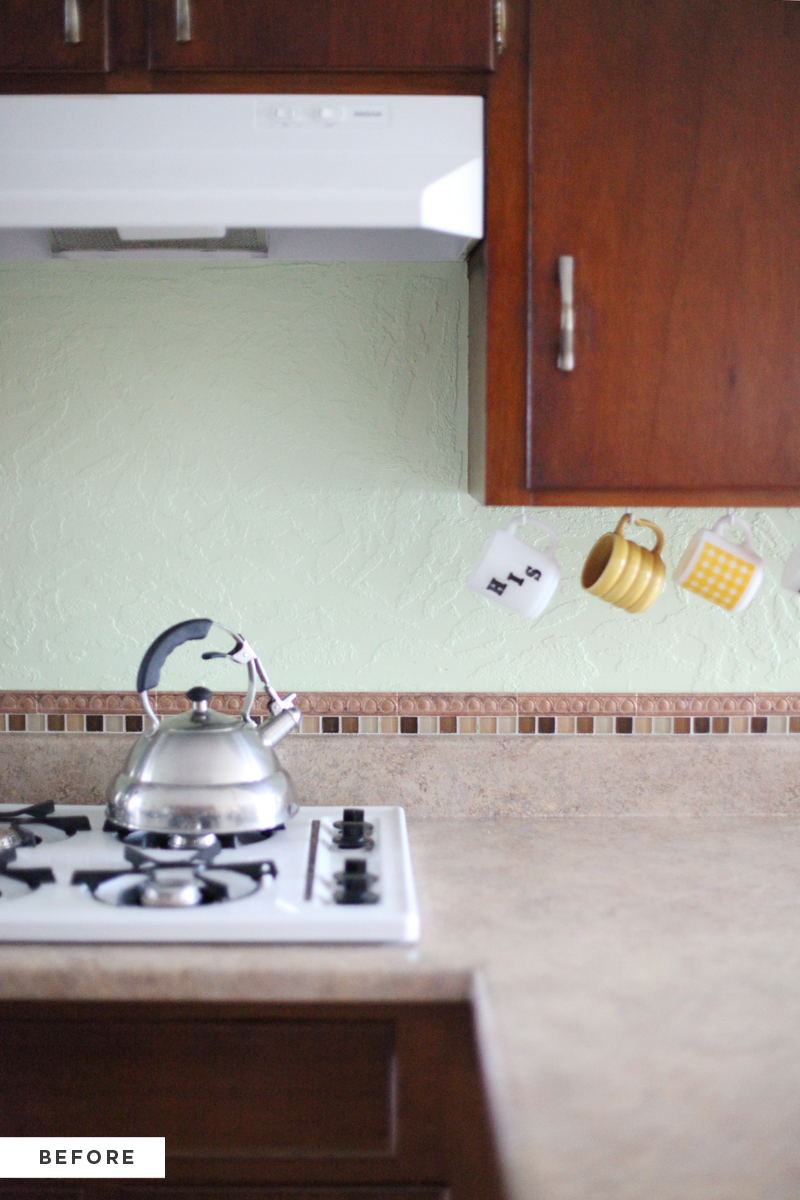 How to make an inexpensive plank backsplash a beautiful mess How to put tile on wall in the kitchen
