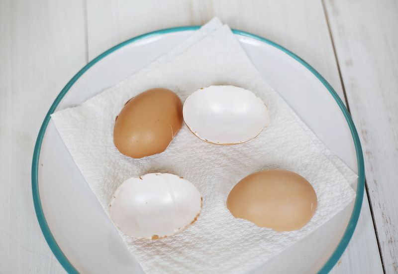 Hollow out the eggs