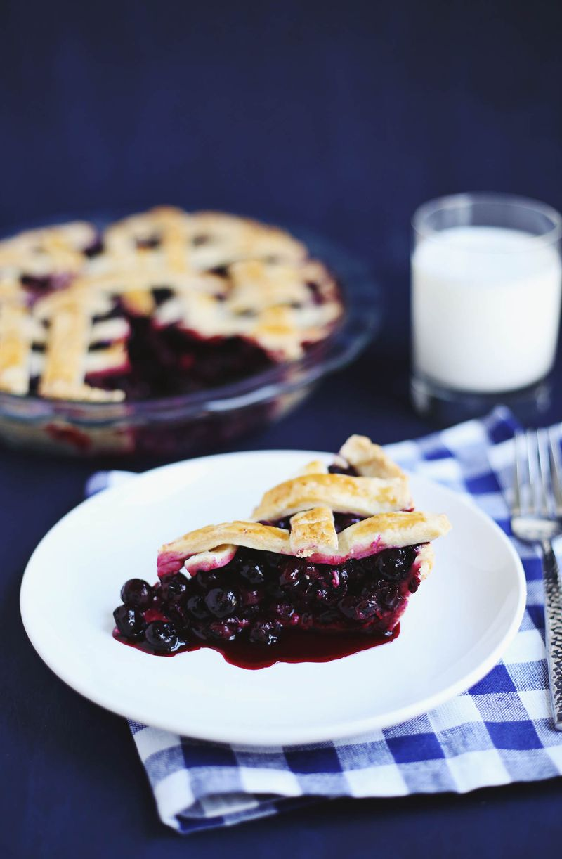 Zesty Blueberry Pie (click through for recipe)