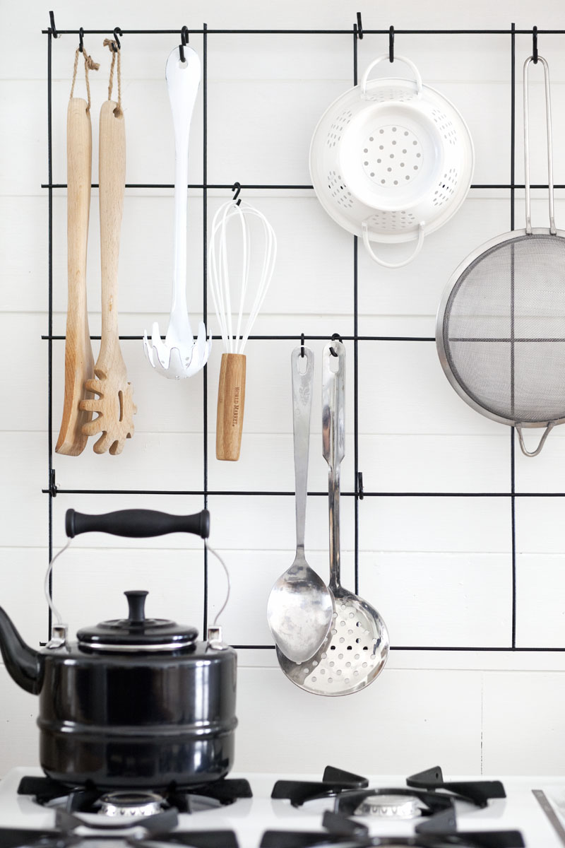 DIY Wire Utensil Rack - A Beautiful Mess