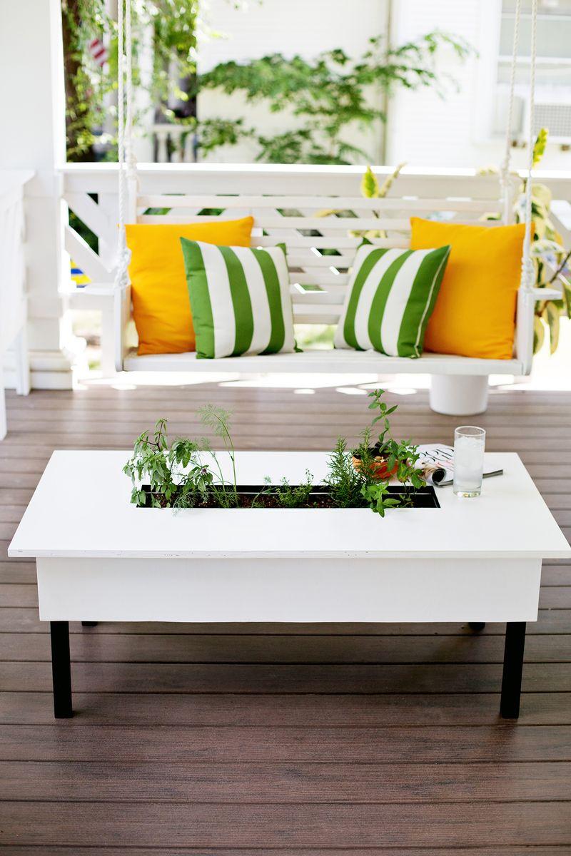 Herb garden coffe table