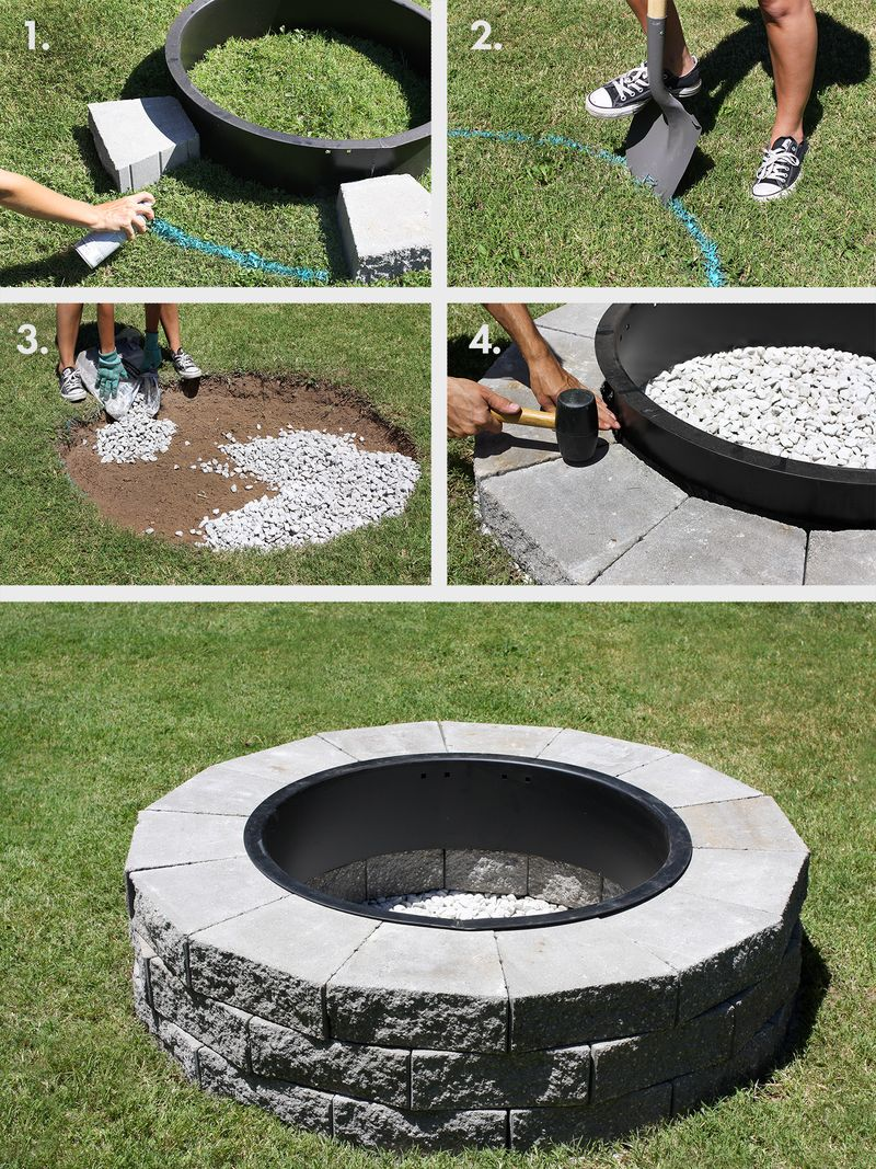 Simple Backyard Fire Pit Ideas backyard fire pit area designs fire pit designs This Would Be Great For The Backyard Firepit In 4 Easy Steps Click Through