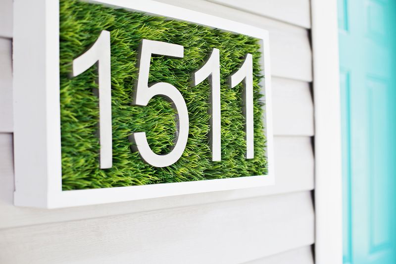 Modern House Number Diy A Beautiful Mess