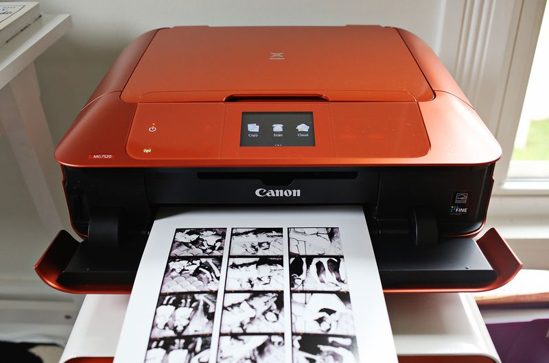 An orange printer!