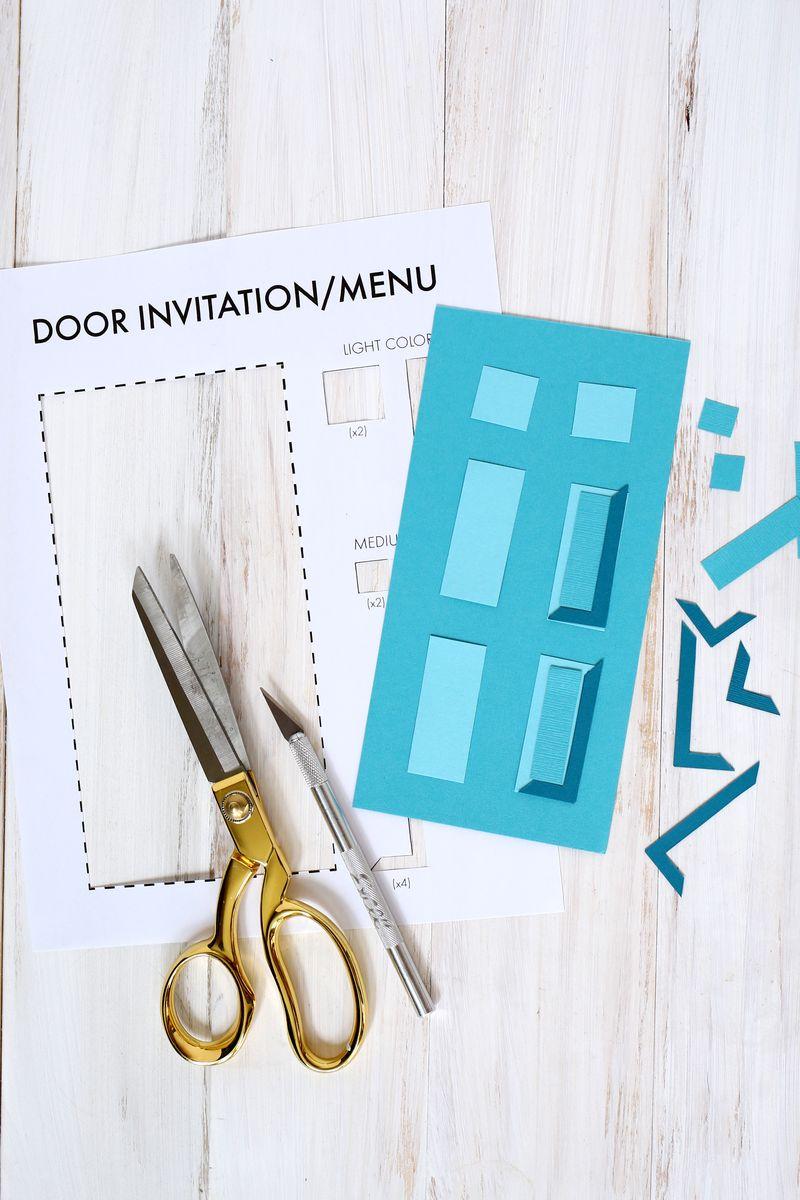 Our Housewarming Door Menu DIY (Template Included!) - A Beautiful Mess