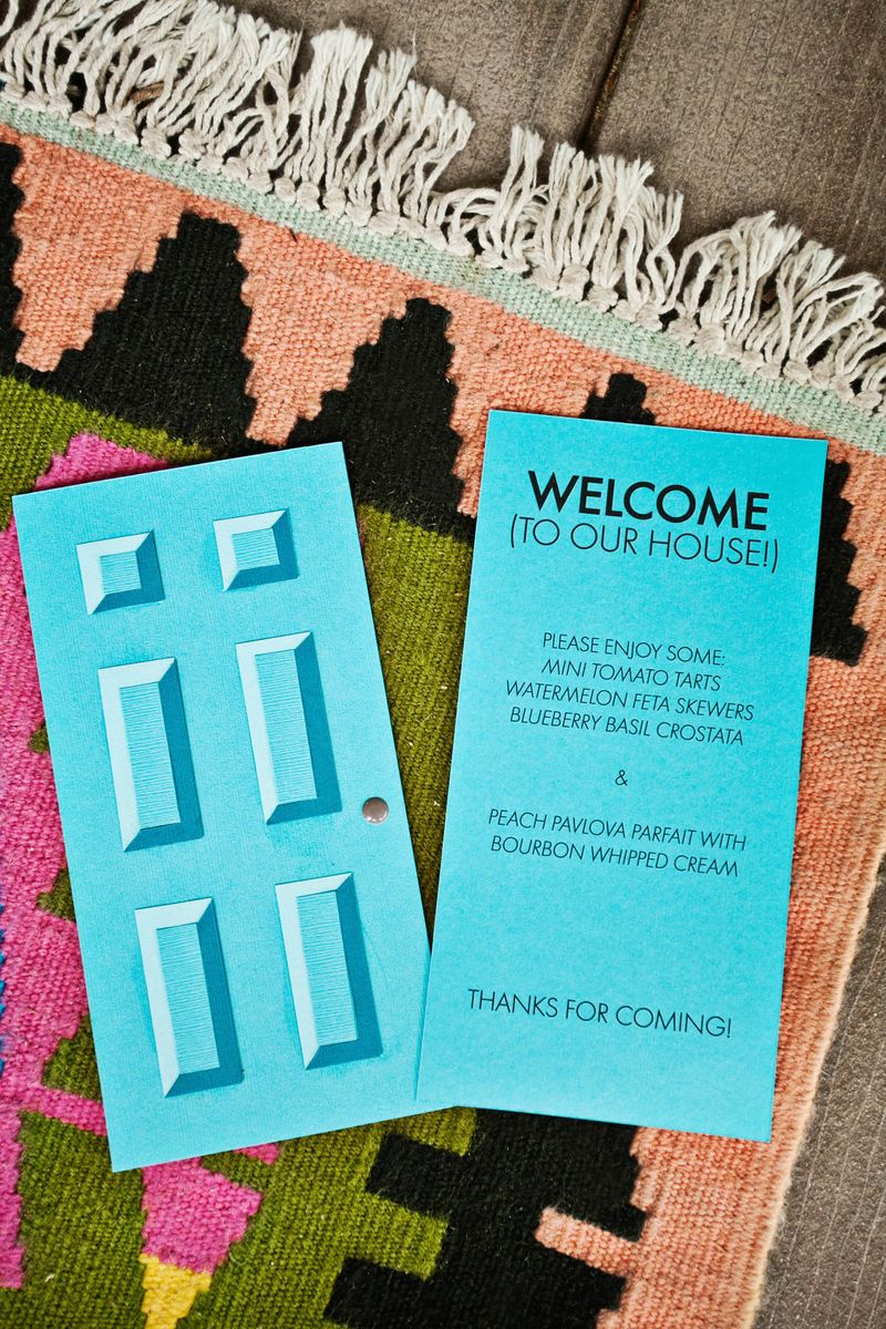Our Housewarming Door Menu DIY Template Included A Beautiful Mess
