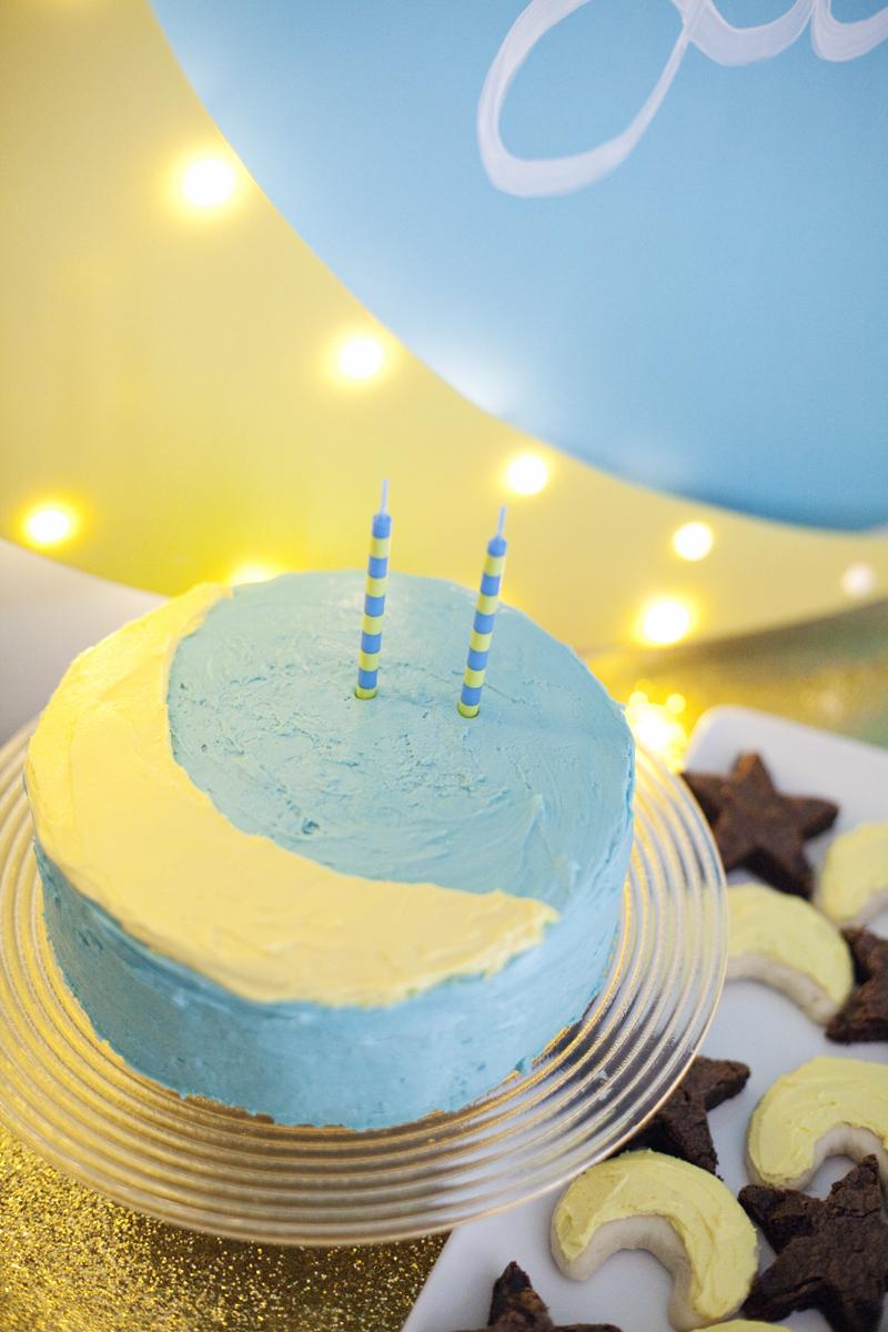 Crescent Moon Birthday Cake