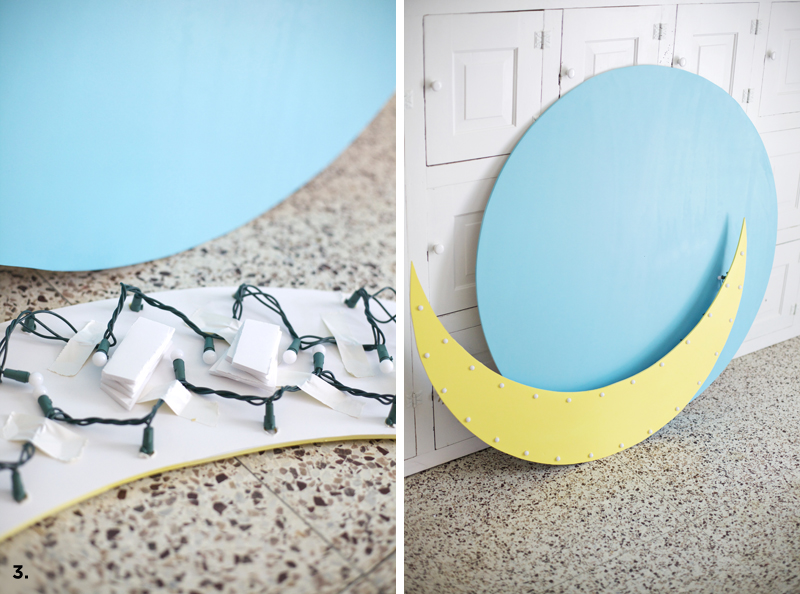 DIY marquee moon sign