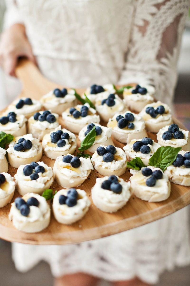 Ricotta and blueberry toasts