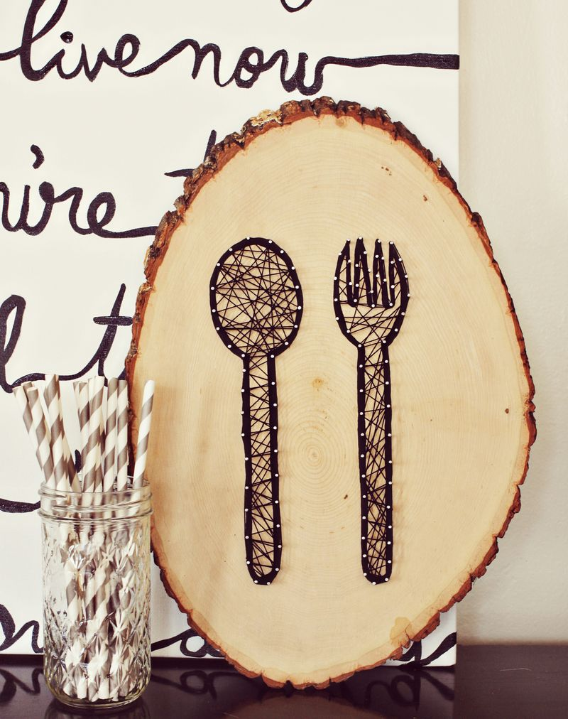 Easy kitchen wall art diy Simple wall art