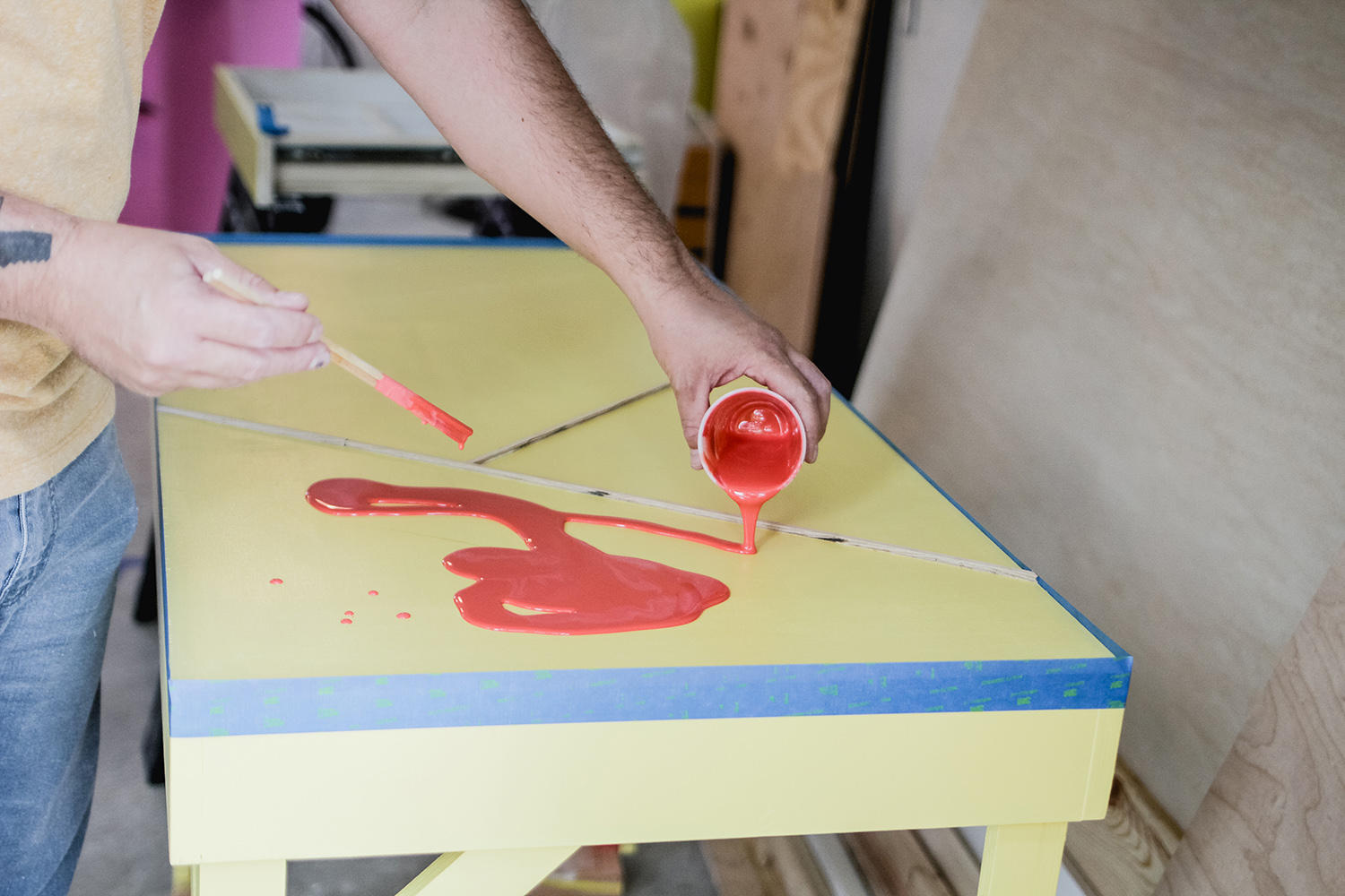 Diy Colorful Epoxy Topped Desk A Beautiful Mess