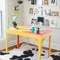 DIY Colorful Epoxy-Topped Desk