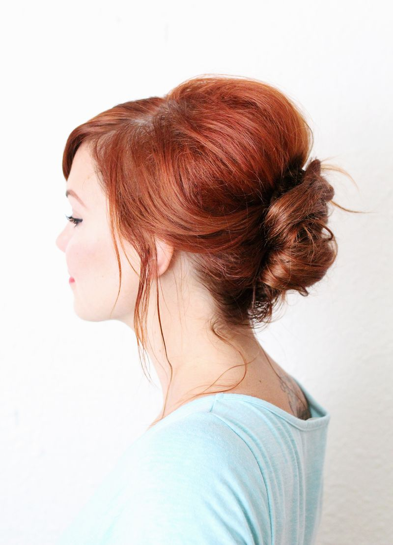 Everyday french twist-- great for second day hair