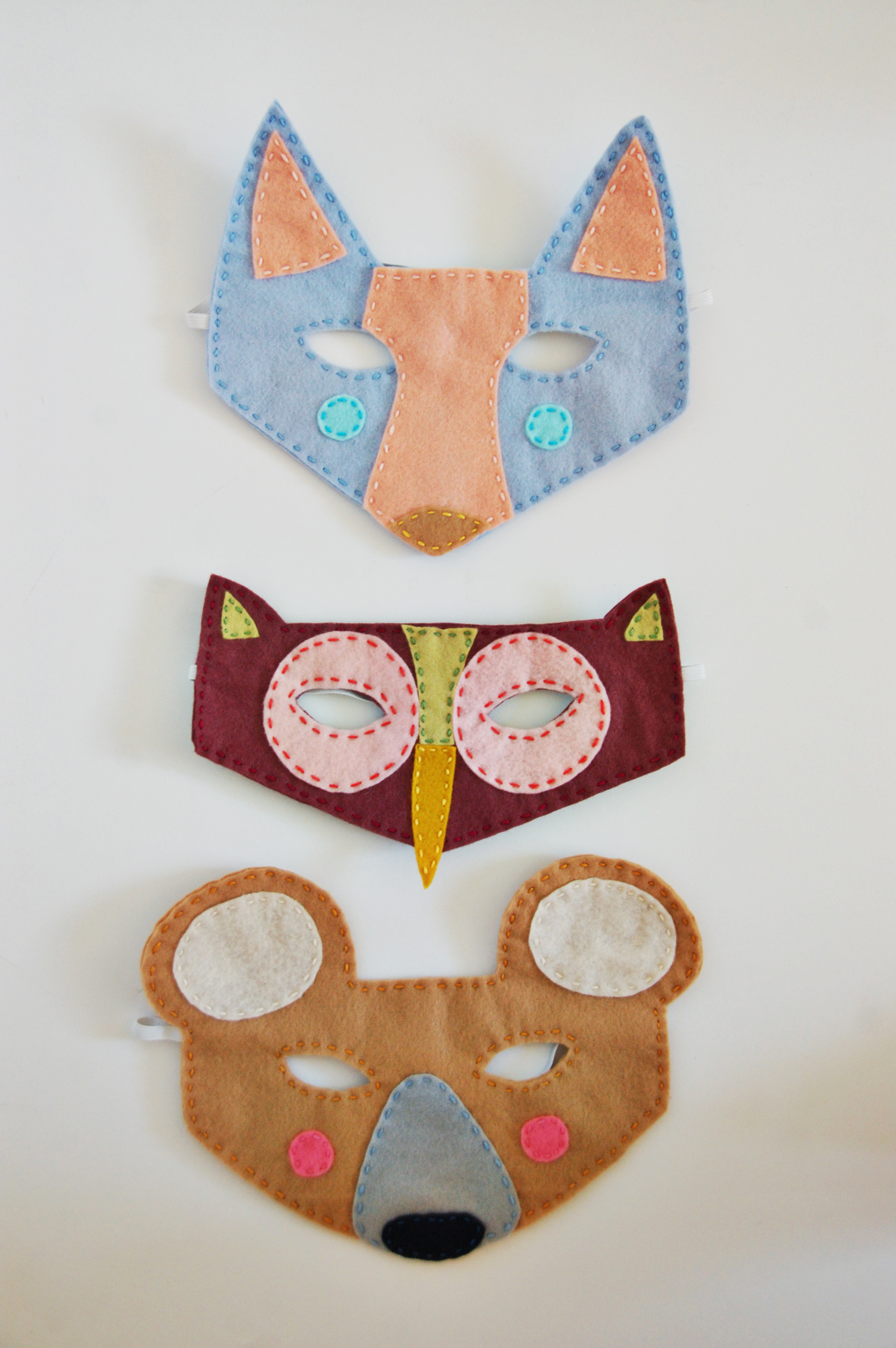 Woodland creatures felt masks a beautiful mess for Woodland animal masks template