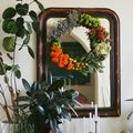 Flower Grapevine Wreath - October 28, 2014
