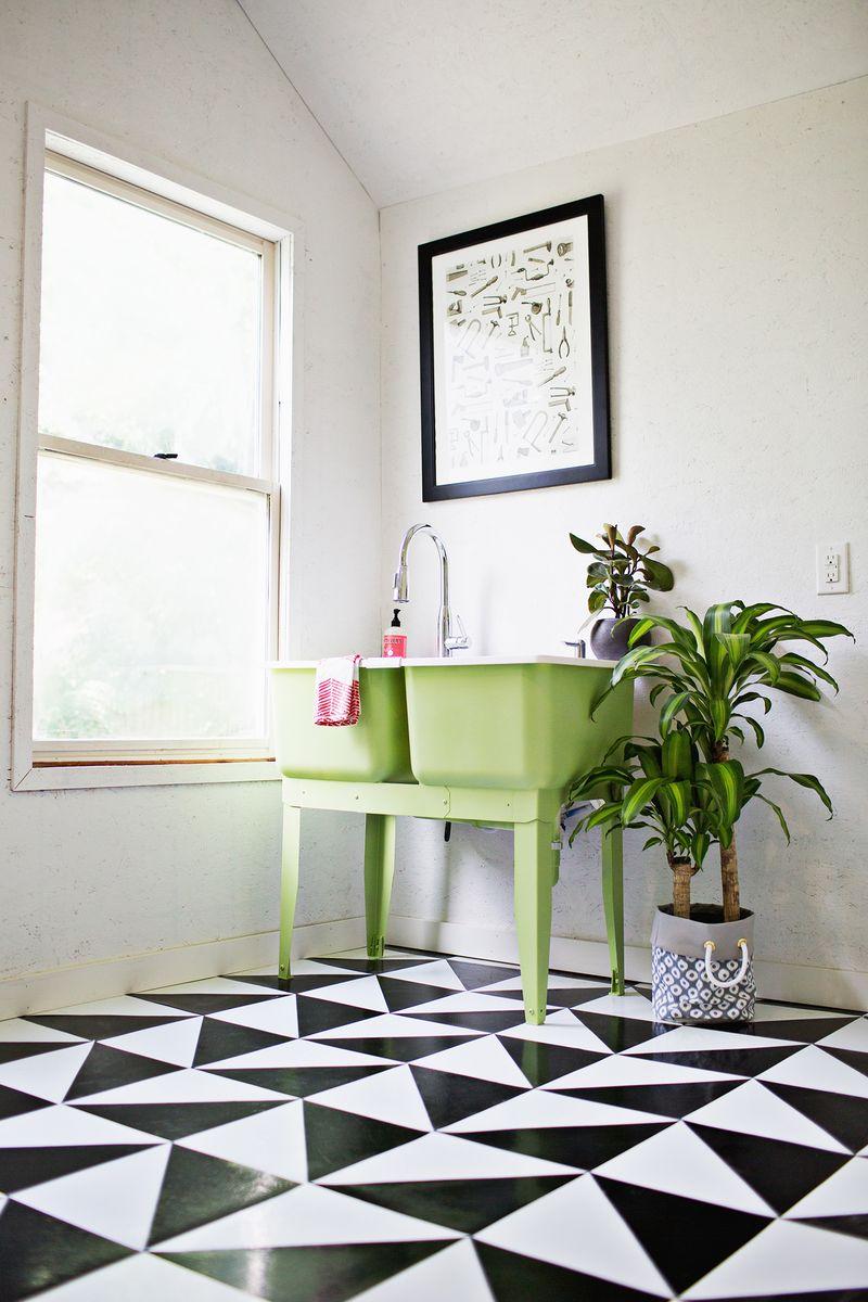 Linoleum tile DIY