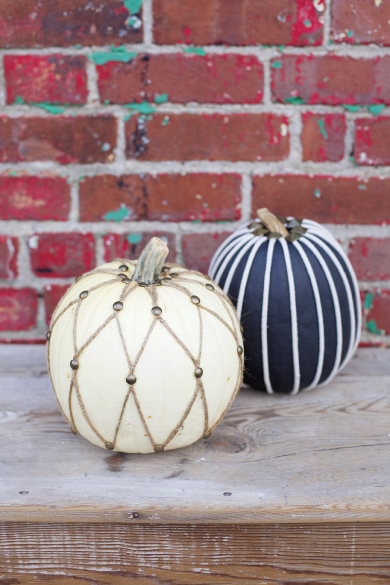 decorate pumpkins with twine and rope