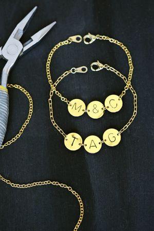 Stamped Initial Bracelet DIY