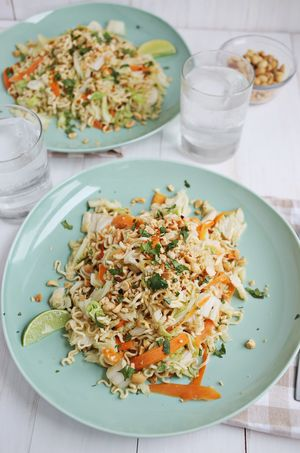 Warm Cabbage & Noodle Salad