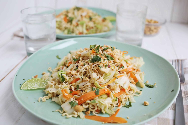 Cabbage + Ramen Noodles.