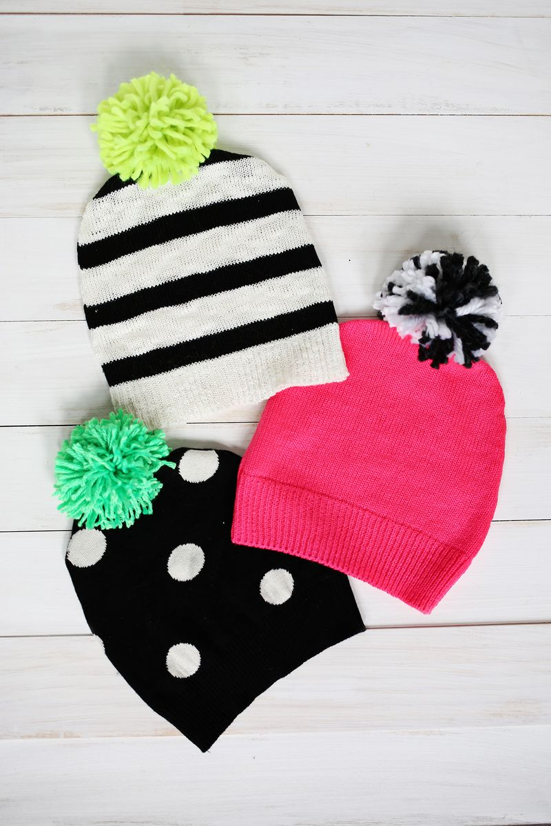 Have A Sweater Make A Pom Pom Hat A Beautiful Mess