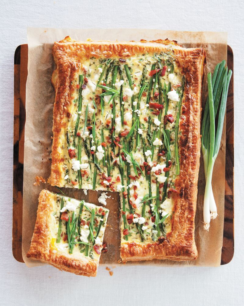Asparagus Bacon and Goat Cheese Tart – A Beautiful Mess