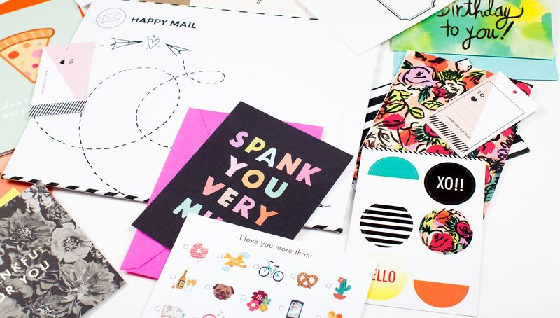 Happy Mail montly subscription kit! www.shop.abeautifulmess.com:preorder:happy-mail