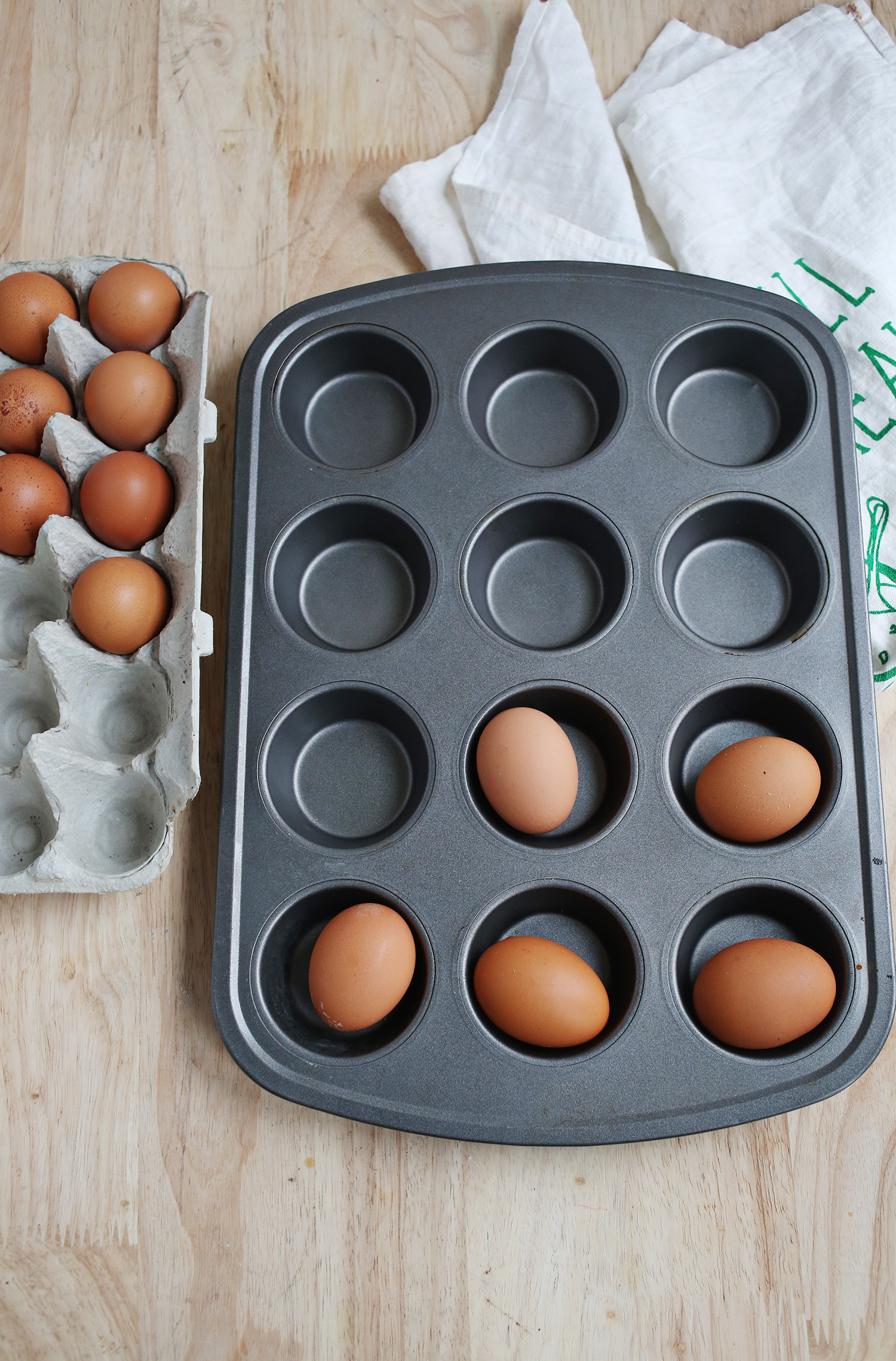 """Try This: Hard """"Boiled"""" Eggs (In the Oven!) - A Beautiful Mess"""