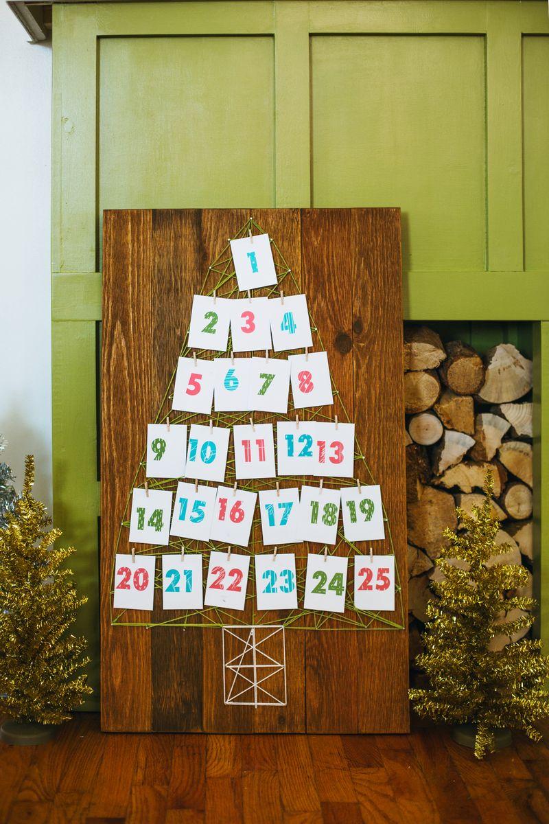 Art Advent Calendar : String art advent calendar a beautiful mess