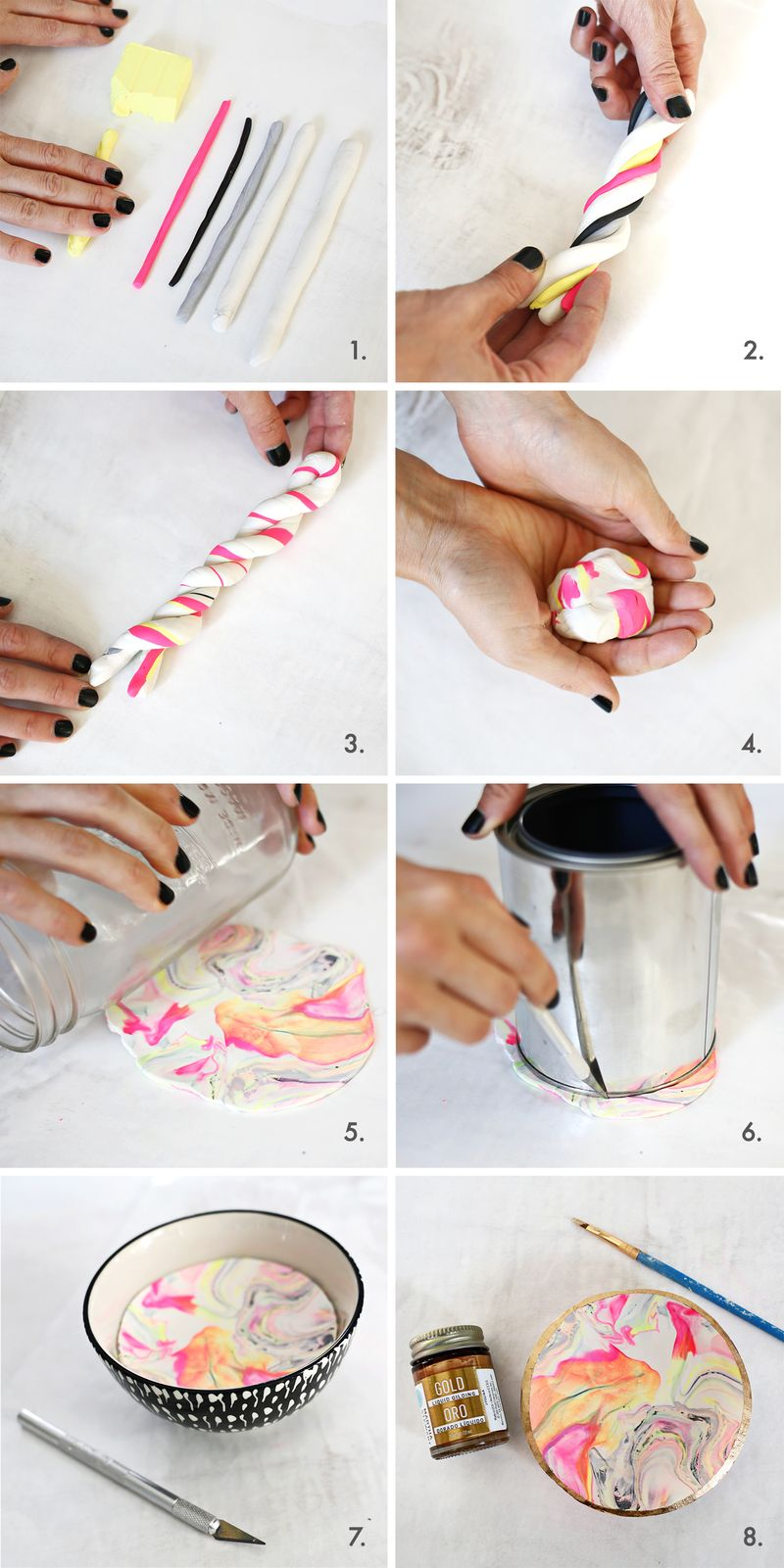 So pretty! easy marbled ring dish (click through for tutorial)
